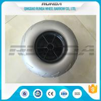 Quality 9 Inch Pneumatic Rubber Wheels PP Rim , Balloon Hand Truck Wheels Without Bearing for sale