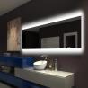 China Illuminated Square LED Bathroom Mirror With Radio Backlit Lighted Vanity Mirror Wall Mount wholesale