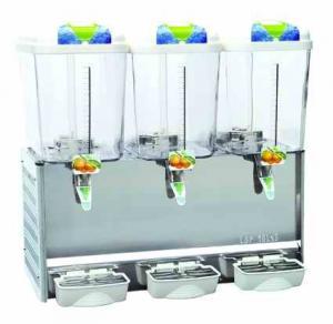 China Spraying Triple Tanks Automatic Juice Dispenser, 18 Liters Cold Drink Dispenser Machine For Cafe, Super Market wholesale