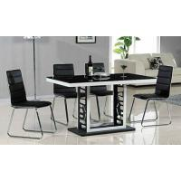 China classic black dining set, dining table, glass table, royal dining chairs, #6010 wholesale