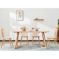 China Rectangle Solid Wood Table , Home / Commercial Restaurant Dining Tables wholesale