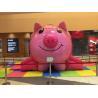China Forma inflável 4 * 4m do porco do rosa da casa do salto dos jogos infláveis bonitos dos esportes das crianças wholesale