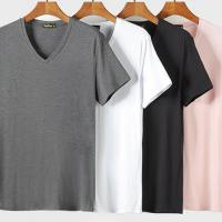 China Sports Style Organic Bamboo T Shirt For Male OEM Service Multi Color wholesale