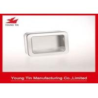 China Blank Rectangle Metal Foam / EVA Small Decorative Tin Containers For Gift Packaging on sale