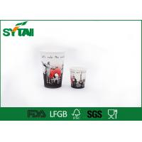 China PE Disposable Takeaway Coffee Cups 12oz With Lid For Hot / Cold Drink , Offset Print on sale