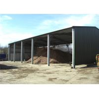 Multi Purpose Steel Barn Structures For Rural With Open Sided Steel Sheet Clading