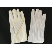 China 22cm Length ESD Hand Gloves , Non Static Gloves PU Coated Protective wholesale
