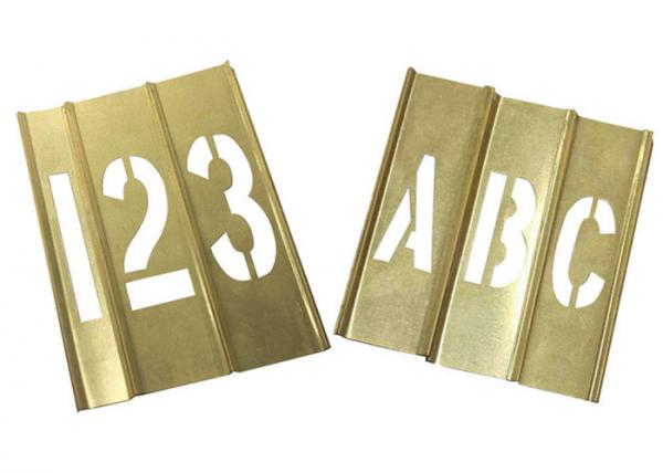 Quality Spray Painting Metal Letter Stencils , Rectangle Shape Brass Letter Stencils for sale
