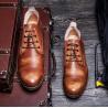 China O OEM que os homens ocasionais atam calça acima sapatas de condução lisas respiráveis confortáveis wholesale