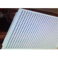 Fireproof Suspended Perforated Aluminum Ceiling Tiles 0.5 - 1.2mm Thickness