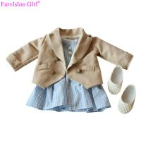 China American girl doll accessories colth with dress 18 young girl doll clothes set sweet princess on sale