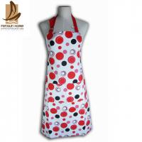 China Cotton Canvas Red And White Polka Dot Apron Custom Cooking Aprons wholesale