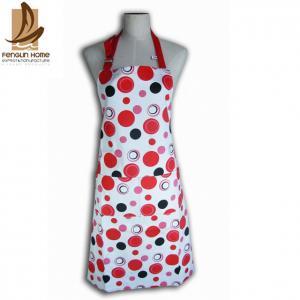 Buy cheap Toile de coton rouge et coutume blanche de tablier de point de polka faisant cuire des tabliers from wholesalers