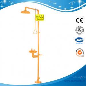 China SH712B-industrial safety epoxy powder coating Galvanization Iron Safety shower eyewash station,Carbon steel,yellow color on sale