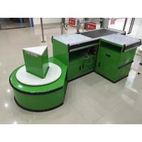 China Custom Automatic Checkout Counter With Conveyor Belt wholesale