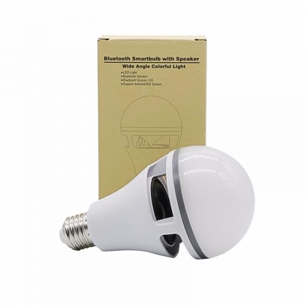 Colorful music smart led light bulb wireless bluetooth 4 0 for Best bluetooth light bulb speaker