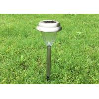 Buy cheap Stainless Steel Solar Yard Stake Lights Waterproof With Glass Lens , CE ROHS from wholesalers