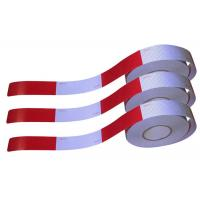 China Self Adhesive High Intensity Reflective Hoop Tape / Long Red And Silver Reflective Tape on sale