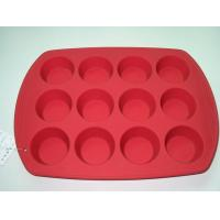 China Silicone 12 Cups Bakeware wholesale