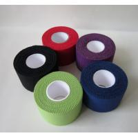 China Cotton sports strapping tape Coloured athletic tape trainer Tape size 2.5cm,3.8cm,5cm width wholesale