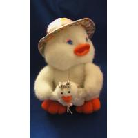 China OEM Personalised Custom Plush Toy Duck Mother in Hat with Baby for Girls Gifts wholesale