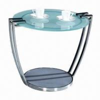 China End/Coffee/Glass Table with Glass and Chrome Finish Frame wholesale