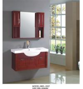 Buy cheap Da vaidade de madeira do banheiro da cereja drenos opcionais/torneira, armários from wholesalers