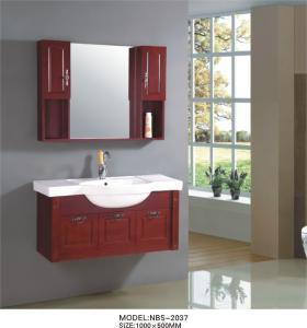 Buy cheap Тщеты ванной комнаты вишни стоки деревянной опционные/Faucet, естественные деревянные шкафы ванной комнаты с картиной from wholesalers