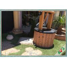 "Abrasion Resistant Landscaping Artificial Grass Carpet Rug Cooling 3 / 8 """