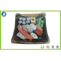 China Biodegradable Plastic Food Packaging Trays Sushi Tray With Clear Lid wholesale