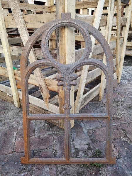 Quality Decorative window frame reclaimed arched cast iron windows antique furniture for sale