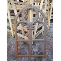 China Decorative window frame reclaimed arched cast iron windows antique furniture wholesale