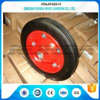 China Tubeless Solid Rubber Wheelbarrow Tyres13inches Red Color Skidding Resistant wholesale