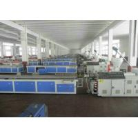 China WPC PVC Skirting Board Production Line , Double Screw Extruder wholesale