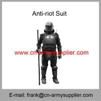 Wholesale Cheap China Black  Military  Fire-resistant Army Police Anti Riot Suits