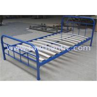 China Sing size simple metal frame bed, with eco-friendly wood slats,color customized wholesale
