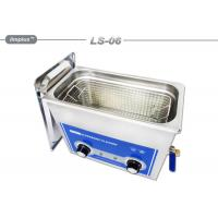 China Hardware Oil 6L Removal Tabletop Ultrasonic Cleaner With Basket wholesale
