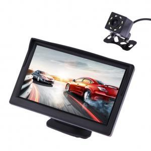 China ABS Material Rear Camera Monitor , Car Backup Monitor With 8 LED Light Camera wholesale