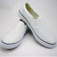 China Plain White Canvas Slip-on Shoes 2 wholesale