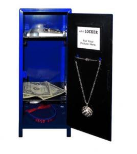 China Blue Mini Heavy Duty Metal Locker Kids Storage CabinetsWith Locks & Key wholesale