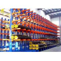 China Wall Mount Cantilever Storage Rack System , Double Sided Cantilever Rack For Sheet Metal on sale