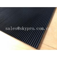 China Recycled Odorless corrugated rubber matting 3mm thick min. Oil resistance on sale