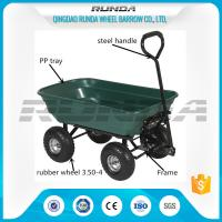 China Outdoor Dumper 4 Wheel Garden Cart Trolley Plastic Side Panels TC2145 For Farmer wholesale