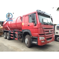 China Red 6x4 12m3 Sewage Suction Truck Septic Pump Truck Garbage Fecal SINOTRUK SWZ wholesale