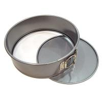 China Tart Quiche Cheese Cake Pan / Springform Baking Pan With Silver And Black Color wholesale