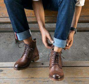 Buy cheap Chaussures de sport en cuir véritables respirables d'orteil d'ascenseur de chaussures rondes d'hommes pour l'hiver from wholesalers