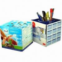 China Promotional Pop-up cube Paper Pen Holders with Offset Printing wholesale