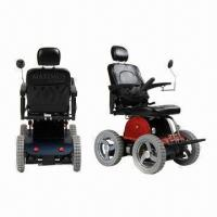 China 4WD Electric Wheelchairs, 50% Stair Climbing Stair Ability wholesale
