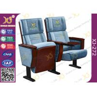 China Metal Folding Indoor Lecture Hall Church Chair With Logo On Back Rest wholesale