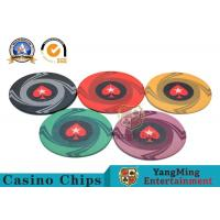 China Custom 10g 14g Ceramic Poker Chips 3.3mm Thickness Environmentally Friendly wholesale